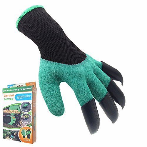 Garden Genie Gloves, Inf-way Left Hand Claws Gardening Gloves, Quick & Easy to Dig & Plant, Safe for Rose Pruning - As Seen On TV (Left Hand Claw 1 pair)