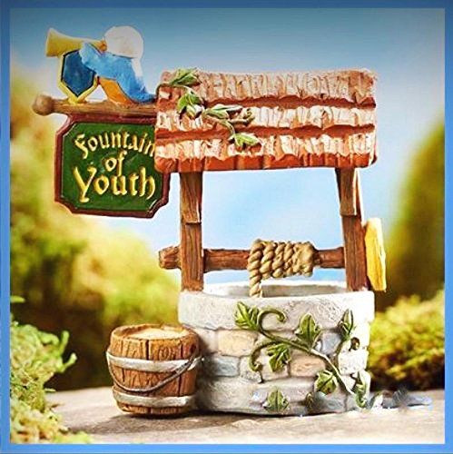 Fairy Garden Fun Fountain Of Youth Well Medieval Times Mini Dollhouse GC311 - My Mini Fairy Garden Dollhouse Accessories for Outdoor or House Decor by New Miniature