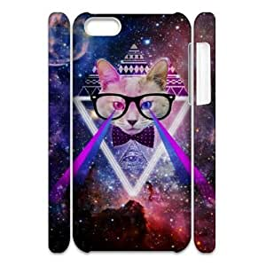 Galaxy Hipster Cat DIY 3D Cover Case for Iphone 5C,personalized phone case ygtg551882 by runtopwell