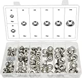 Swordfish 32440 - 280pc Stainless Steel Finishing Cup Washer Assortment #4, #6, #8, #10, #12, 1/4'', 5/16''