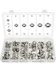 """Swordfish 32440-280pc Stainless Steel Finishing Cup Washer Assortment #4, 6, 8, 10, 12, 1/4"""", 5/16"""""""