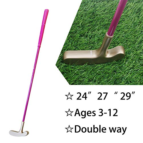 Kofull Kids Junior Golf Putter Double Way Zinc-Alloy Head Graphite Shaft Rubber Grip 24inch 27inch 29inch for Choice (24inch, ()