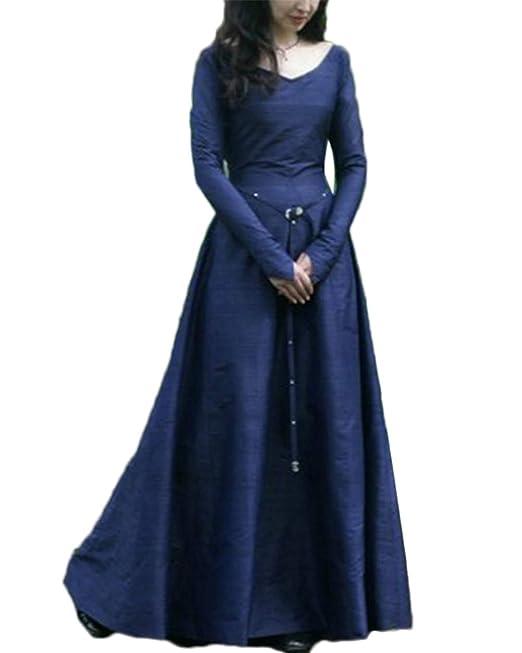 GUOCU Vestido de Noche de Estilo Victoriano para Mujer Largo ...