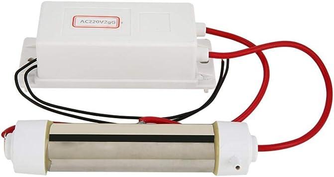 Generador de ozono, AC 220V Tubo de cuarzo de ozono Ozonizador Ionizador para purificador de agua y aire Máquina de ...
