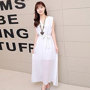 DESY Vestido de maternidad del verano, vestido de lino respirable, vestido + collar del