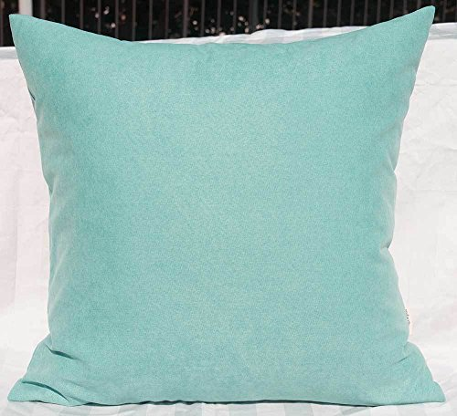 - TangDepot Solid Wool-like Throw Pillow Cover/Euro Sham/Cushion Sham, Super Luxury Soft Pillow Cases - Handmade - Many Colors & Sizes Avaliable - (26