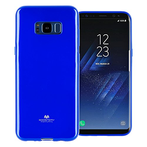 (GOOSPERY Marlang Marlang Galaxy S8 Plus Case - Navy Blue, Free Screen Protector [Slim Fit] TPU Case [Flexible] Pearl Jelly [Protection] Bumper Cover for Samsung GalaxyS8Plus, S8P-JEL/SP-NVY)