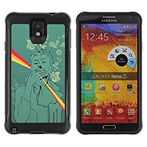 Hybrid Anti-Shock Defend Case for Samsung Galaxy Note 3 / Rainbow Joint