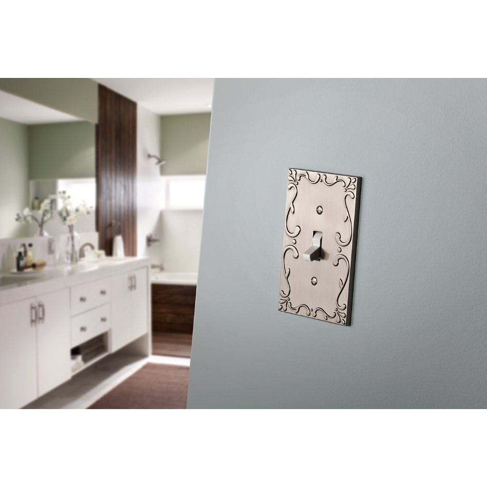 Franklin Brass W35078-VBC-C Classic Lace Triple Switch Wall Plate/Switch Plate/Cover with Copper Highlights, Bronze by Franklin Brass (Image #2)