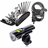 Od-sports Outdoor 16 in 1 Mountain Bicycle Tools Sets Bike Bicycle Multi Repair Tool Kit Hex Spoke Wrench Mountain Cycle Screwdriver Tool with Led Bicycle Headlight