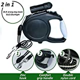 #9: Large Dog Leash - Retractable Dog Leash Extra Long 26 Foot - Big Dog Leash Heavy Duty for Large Breed - Plastic Durable Dog Training Leash - Retractable Leash Set with Light - Comfortable Grip for Men