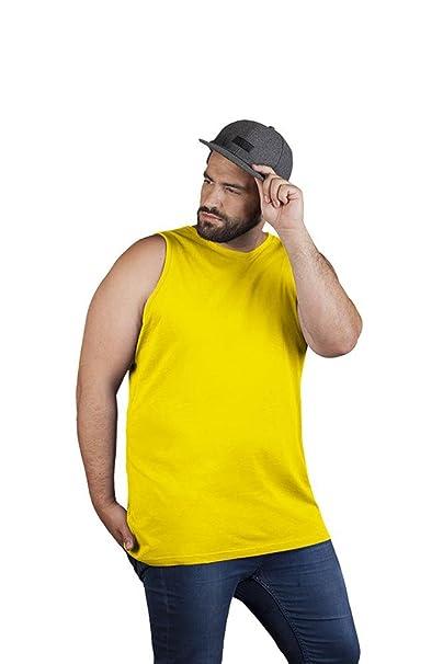 Premium Muskelshirt Herren, S, Gelb