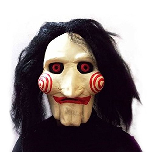 X-Merry Scary Creepy Halloween Clown Evil Latex Mask - Jigsaw Jig Saw -