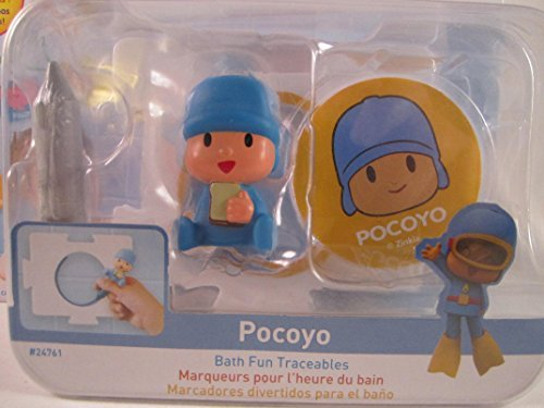 Pocoyo & Friends with Pocoyo Bath Fun Traceables Figure Toy by Pocoyo (Pocoyo Bath)