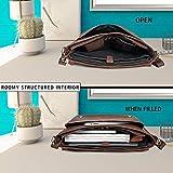 Leather Briefcase For Men Adjustable Satchel