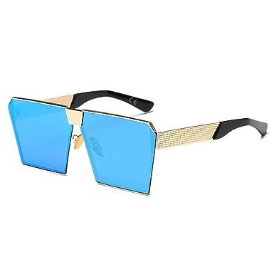 AMZTM Platz Verspiegelt Linsen überdimensioniert Polarisiert Orange Metall Sonnenbrille für Damen und Herren ptX8wvbUOf