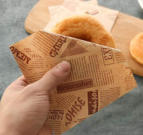 Amazon.com: Funcoo 100 bolsas de papel kraft para dulces de ...