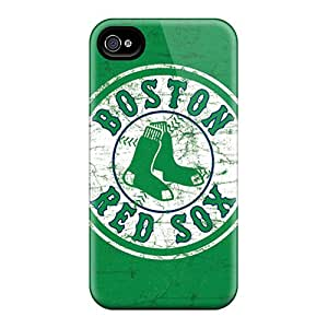 Iphone 4/4s KEB3233xHum Customized Attractive Boston Red Sox Pictures Shock Absorbent Hard Phone Cases -DustinFrench