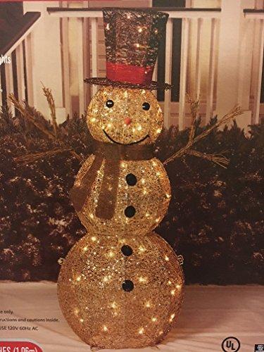 Lighted Outdoor Snowman - 8