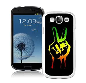 High Quality Samsung Galaxy S3 I9300 Case ,Cool And Fantastic Designed Case With Green red yellow marijuana reggae White Samsung Galaxy S3 I9300 Cover