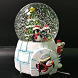 Penguin Musical Snow Globe Glitter Dome with Falling Snowflakes & LED Water ball
