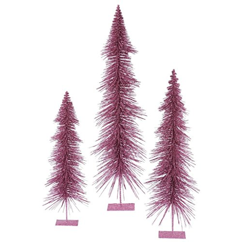 (3 Piece Glitter Layered Christmas Tree Set Color: Orchid)