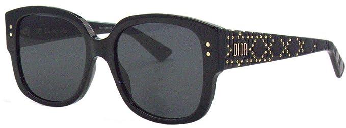 8e0161a5a6 Amazon.com  CHRISTIAN DIOR LADYDIORSTUDS 807 BLACK SUNGLASSES  Clothing
