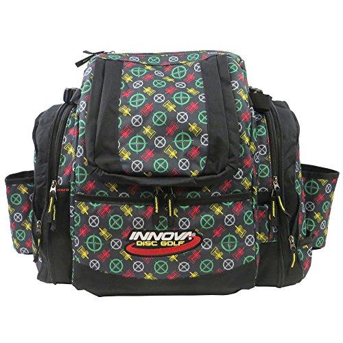 INNOVA Super HeroPack Backpack Disc Golf Bag (Pattern Rasta) ()