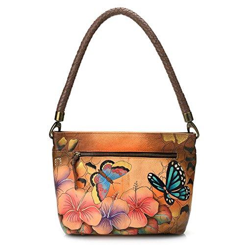 ANUSCHKA, Borsa a spalla donna multicolore Animal Hibiscus
