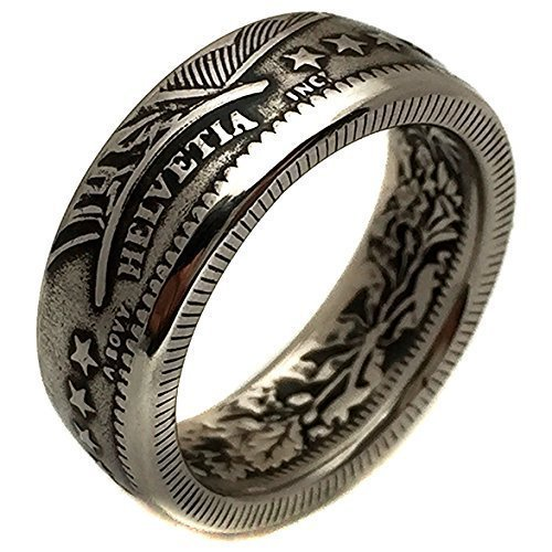 Swiss Coin Ring - Switzerland 2 Francs - Helvetia - Men