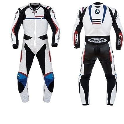 Mono de piel para moto de carreras personalizable diseño BMW de ...