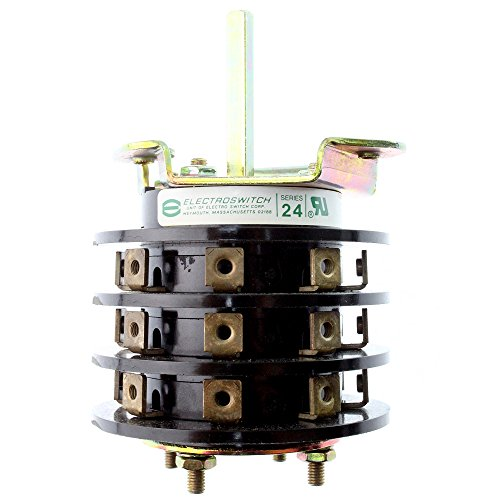 Rotary Switch Electroswitch - Electroswitch 24203C-S Series 24 Rotary Switch, 2HP 240/480V, 2-20A 30-600Vac