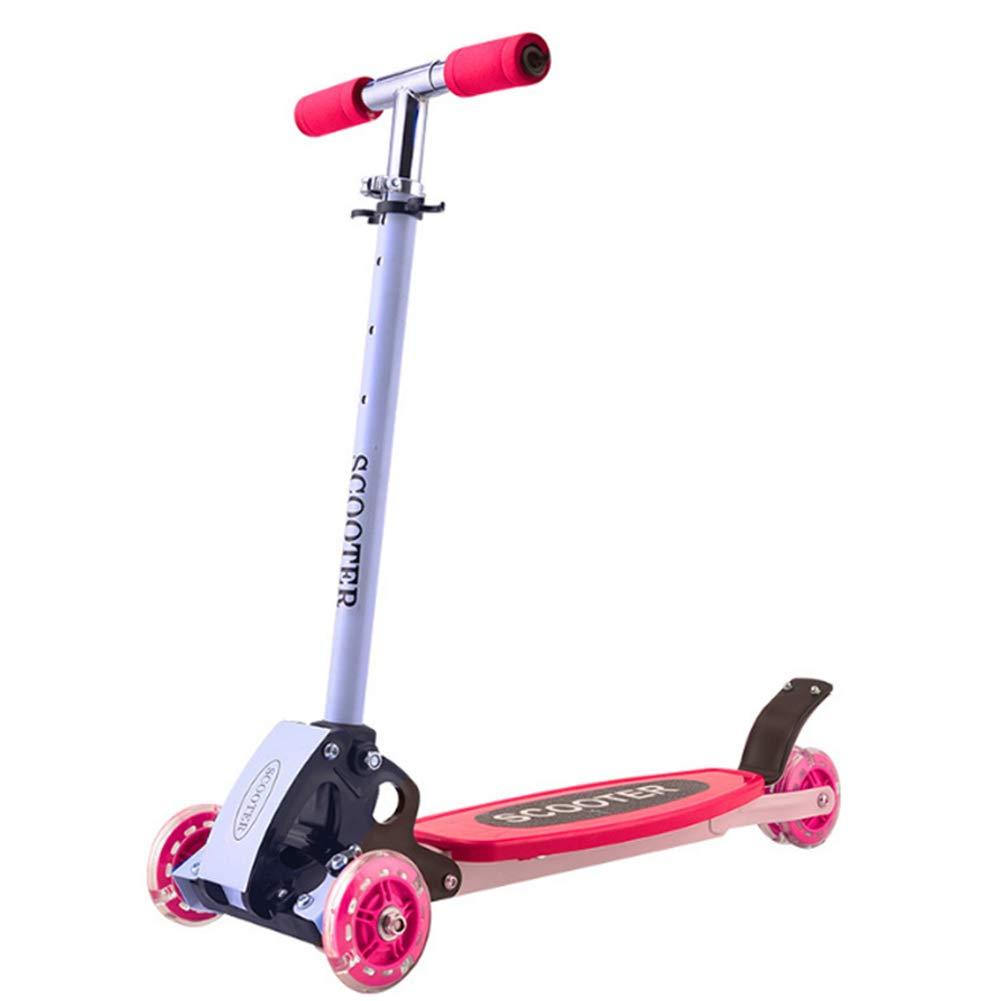 【期間限定!最安値挑戦】 キックスクーター三輪車スケートボードペダル式乗用スタントスクーター最初のスクーター折りたたみTバーハンドルLEDライトアップホイール付き調節可能な B07H83RMRR Red Red B07H83RMRR Red Red, 中古パソコンのUSED-PC:60dd078f --- a0267596.xsph.ru