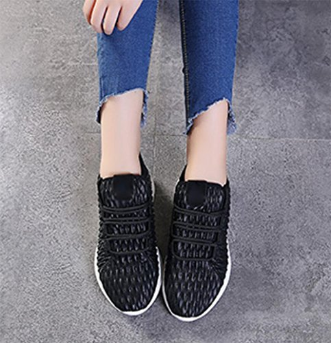 Mei Automne Sport Femmes Casual Chaussures De Course Chaussures Sneakers Ceinture En Cuir Trainers Sneakers, Us6.5-7 / Eu37 / Uk4.5-5 / Cn37