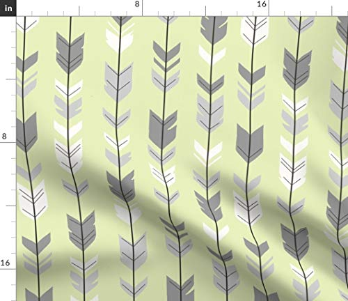 (Fabric - Arrow Feather Sherwood Forest Woodland - by Sugarpinedesign Printed on Petal Signature Cotton Fabric by The Yard)