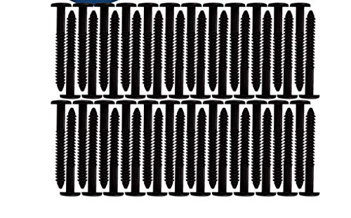 Window Shutters Panel Peg Lok Pin Screws Spikes 3 inch 60 Pack (Black) Exterior Vinyl Shutter Hardware Strongest Made in USA