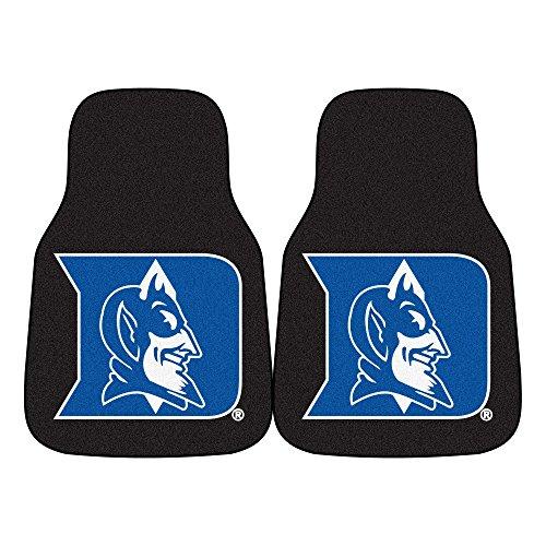FANMATS NCAA Duke University Blue Devils Nylon Face Carpet Car Mat Devils Carpeted Car Mats