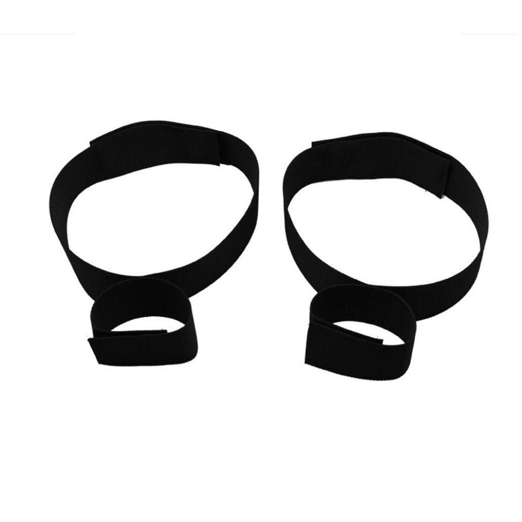 KOLY 2 paio di manette BDSM Gambali Coscia Cinghie Cinghie Cinghie Sexy Bondage Set Fetish Restraints Giocattolo del sesso per adultiNero fc2a53