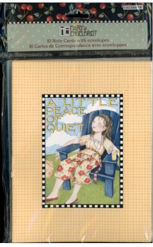 Mary Engelbreit 10 Note Card Set With Envelopes - A Little Peace of Quiet