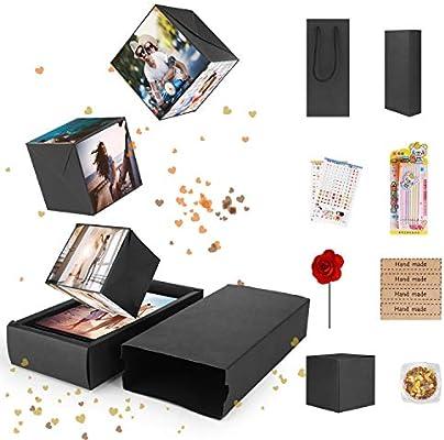 FORIZEN Explosion Box Scrapbook Creative, DIY Álbum de Fotos Libro de Recuerdos, Caja de Regalo Creative Explosion Regalos de Cumpleaños Navidad, ...