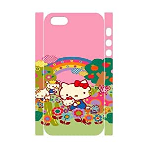 iphone5 5S 3D Cell Phone Case White HELLO KITTY Plastic Durable Cover Cases derf6983417