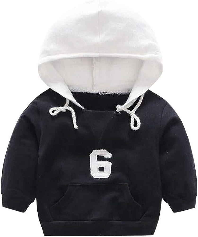 Infant Baby Toddler Boys Girls Hooded Sweatshirt Kids Fall Winter Top