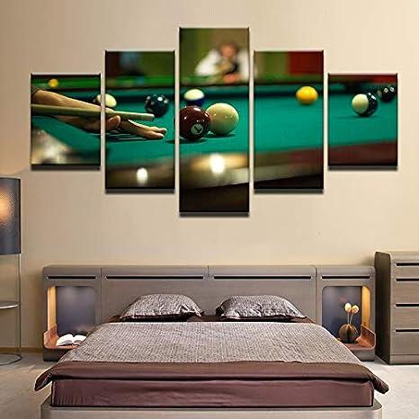 mmwin 5 Piezas de póster de Billar Impresiones en HD Tenis de Mesa ...