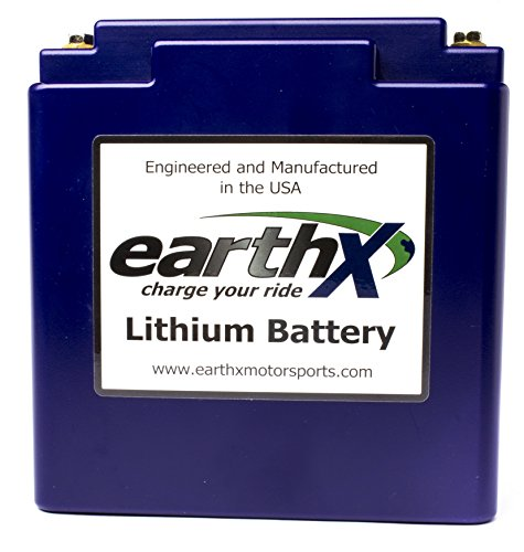 EarthX ETX680C Eco-Friendly Lithium Motorcycle Battery with Built-in Battery Management System