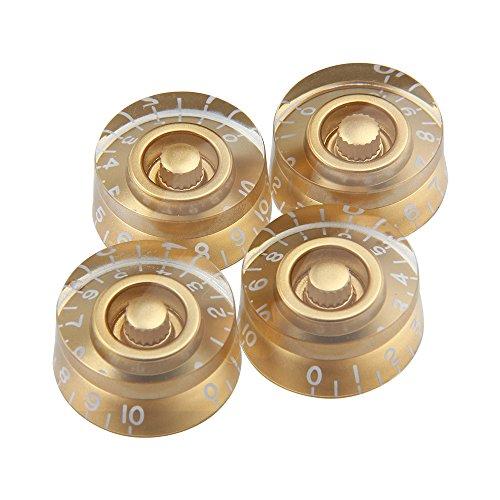 Kmise Electric Guitar Control Speed Knobs for Gibson Les Paul LP Knob Parts Replacement Gold 4 Pcs