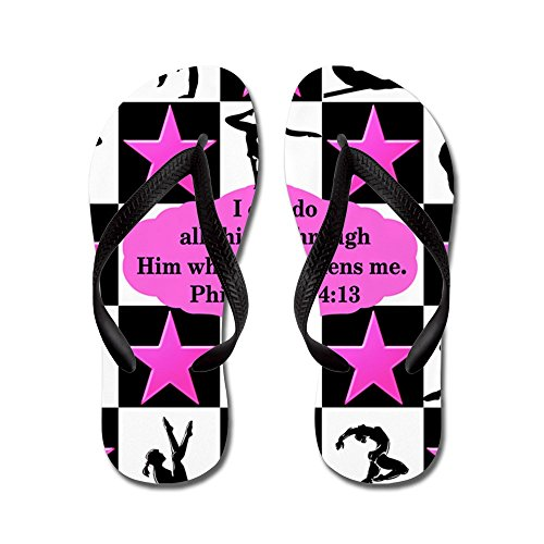 CafePress Gymnastics Queen - Flip Flops, Funny Thong Sandals, Beach Sandals Black