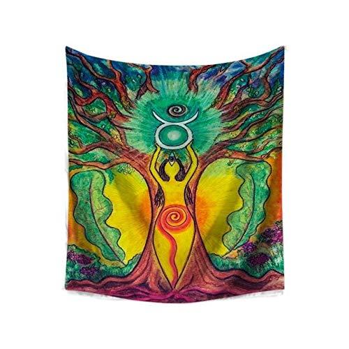 Buddha Statue Pattern Yoga Mat India Tapestry ()