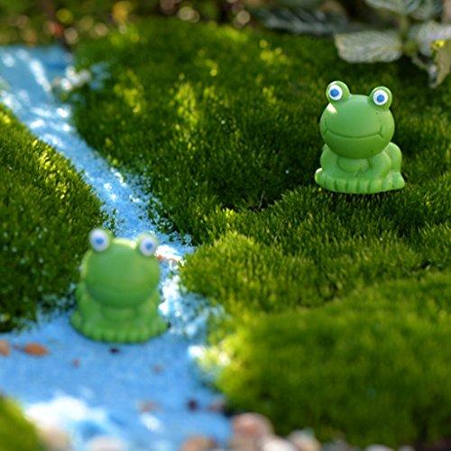 MagiDeal Miniature Fairy Garden Micro Landscape Mini Dollhouse Bonsai Decor Frog Pack of 10 -