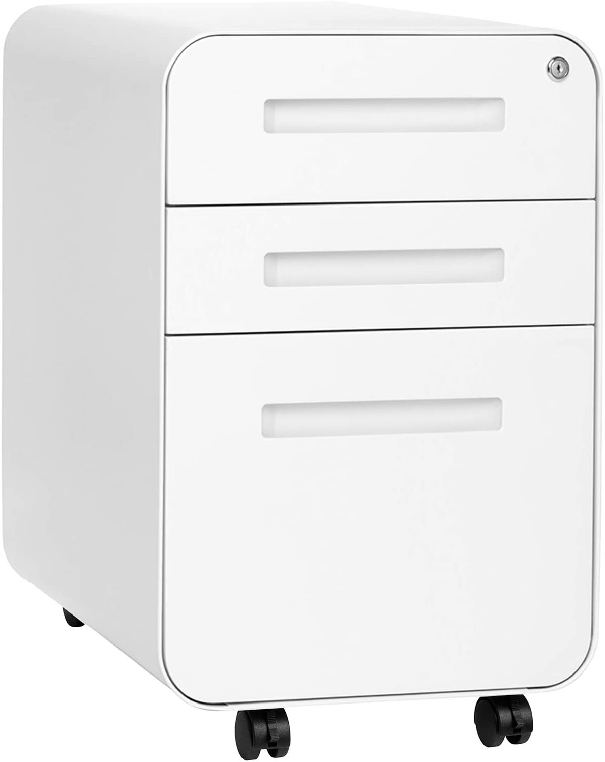 Stockpile 3-Drawer File Cabinet, Commercial-Grade (White)