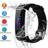 YOUNGDO GPS Fitness Tracker HR, 24 Sports Modes Color Screen Activity Tracker with Heart Rate Monitor, Built-in GPS, Waterproof Smart Wristband, Step Counter, Sleep Monitor, Pedometer for Women Men